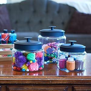 Crafting; Decutter; Organize; Montana Jars; Glass