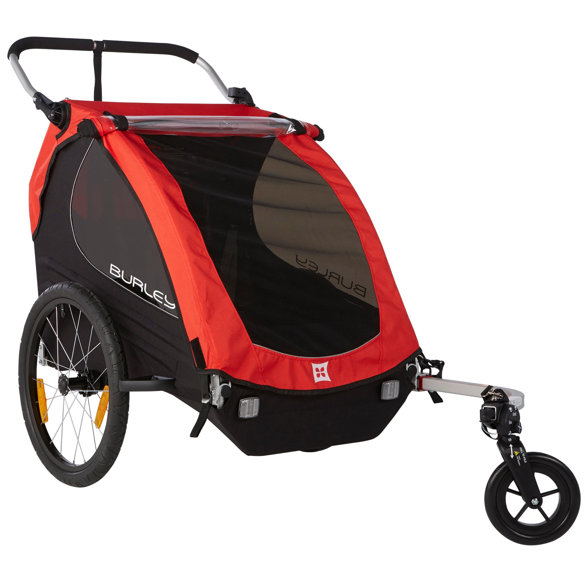 .com : Burley Design Honey Bee Bike Trailer, Red : Sports & Outdoors