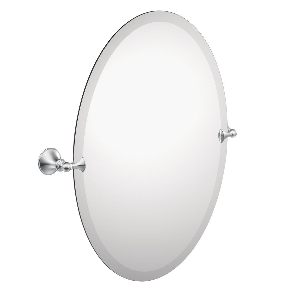 Amazon.com: Moen DN2692CH Glenshire Bathroom Oval Tilting Mirror ...