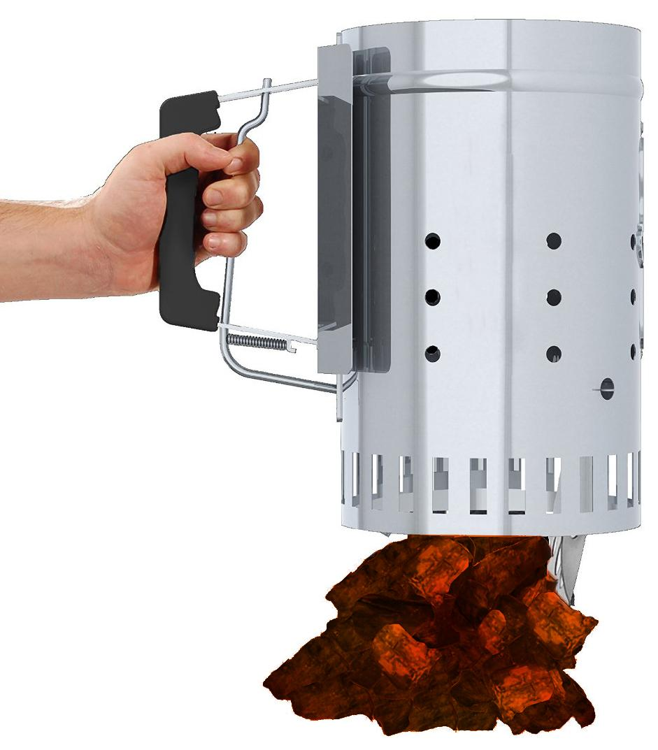 20ea64da5aa07 Amazon.com   Char-Griller Charcoal Grill Chimney Starter with Quick ...