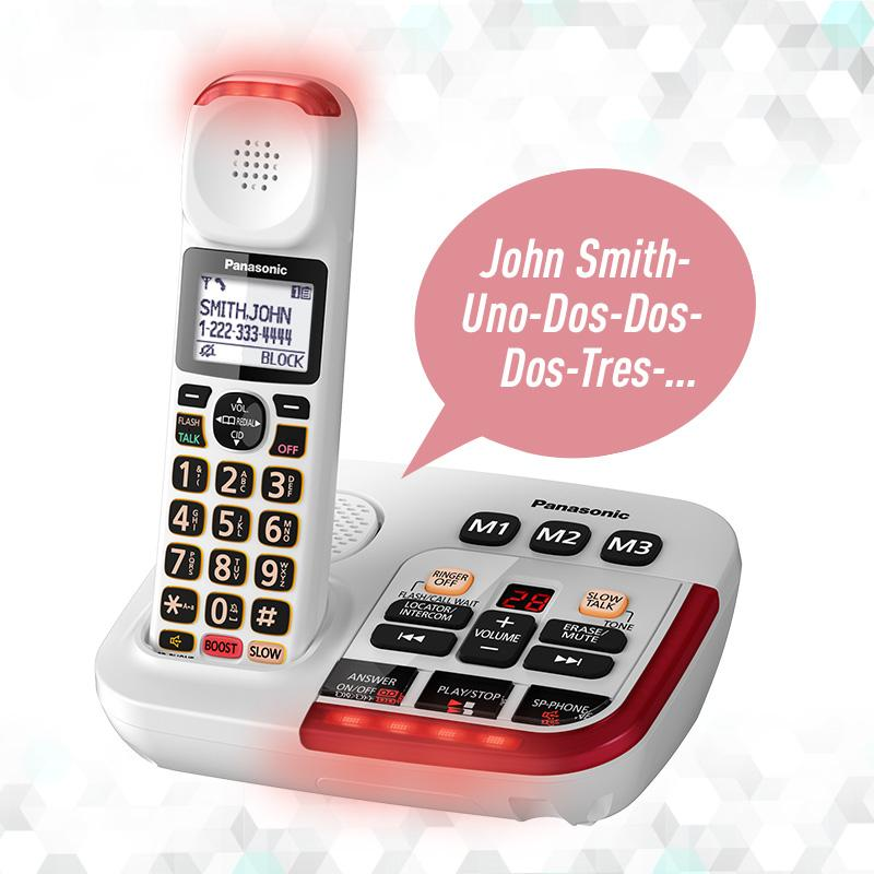 white cordless phones with answering machine