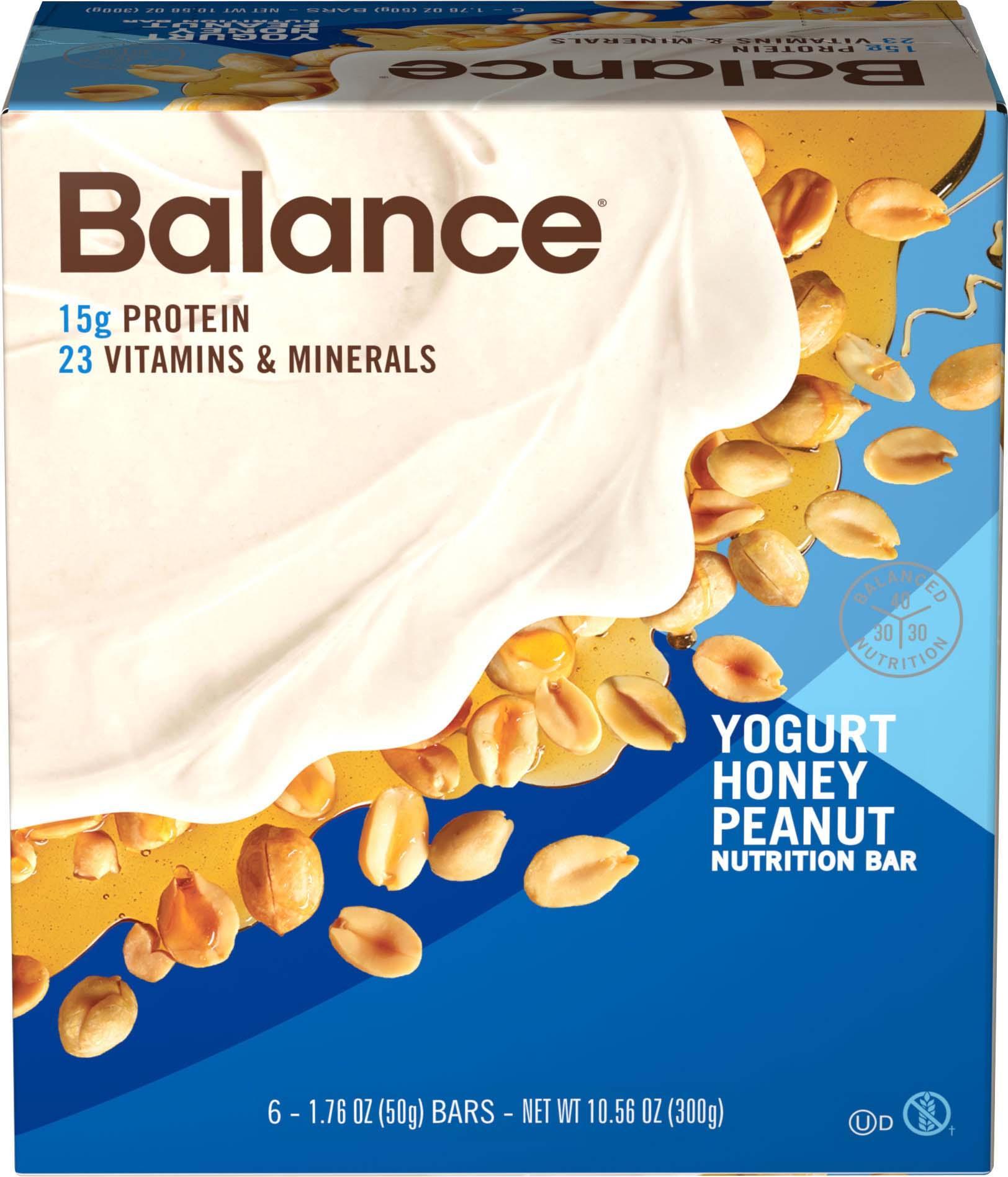 Amazon Balance Bar Yogurt Honey Peanut 6 count Value Pack