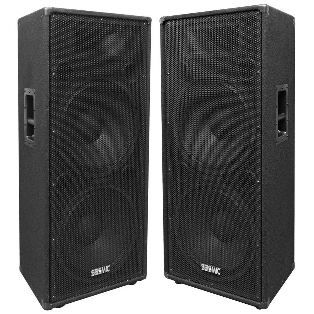 Amazon Com Seismic Audio Fl 155pc Pair Of Dual Premium 15
