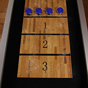 Platinum Shuffleboard Table Features