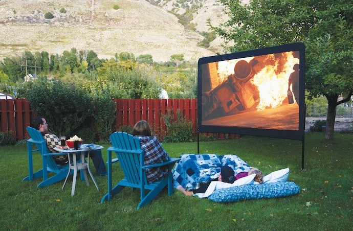 how to set up outdoor theater