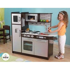 Amazon.com: KidKraft Uptown Espresso Kitchen: Toys & Games