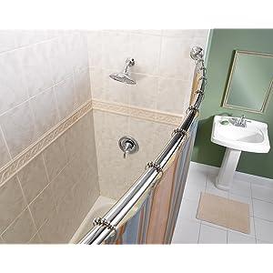 Moen Curved Shower Rod - Adjustable Design