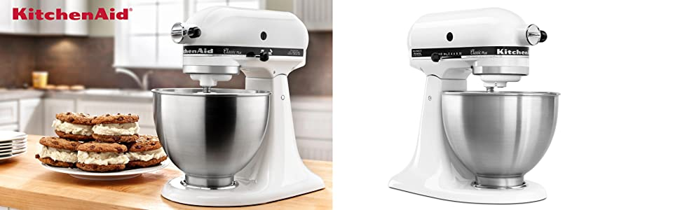 Amazon.Com: Kitchenaid Ksm75Wh Classic Plus Series 4.5-Quart Tilt