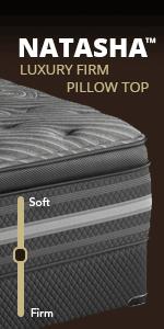 Amazon Com Beautyrest Black Natasha Plush Pillow Top