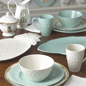View larger & Amazon.com | Lenox 4 Piece British Colonial Carved Place Dinnerware ...