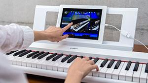 Yamaha np12 61 key lightweight portable for Yamaha digital piano controller