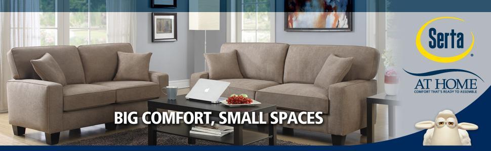 serta, sofa, love seat