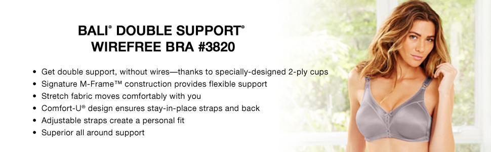 0eaae8d9f0038 Bali Women s Double-Support Wire-Free Bra  3820 at Amazon Women s ...