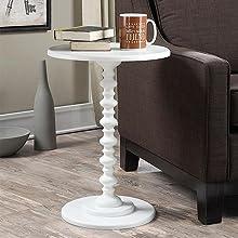 side table spindle design