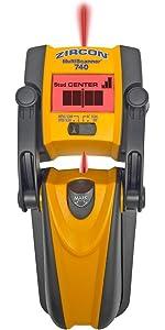 MS 740, multiscanner, multi scanner, ac scan, metal scan, stud scan, studscan, center finder, Zircon