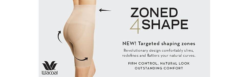 664ab8a2515eb Wacoal Women s Zoned 4 Shape Long Leg Shaper at Amazon Women s ...