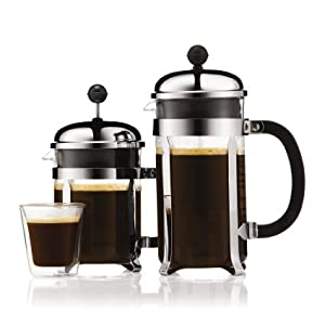 Original French Press Coffee Maker : Amazon.com: Bodum CHAMBORD Coffee & Tea Maker, French Press Coffee Maker, Stainless Steel & Heat ...