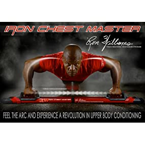 Iron Chest Master Push Up Machine - The Perfect Chest Workout  Fully  Assembled with Built-in Resistance Bands  Includes Workout Programs