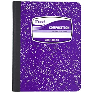 composition book wide ruled square deal Mead