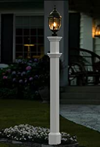 Amazon Com Portsmouth 5 Quot X5 Quot Vinyl Lamp Post Outdoor