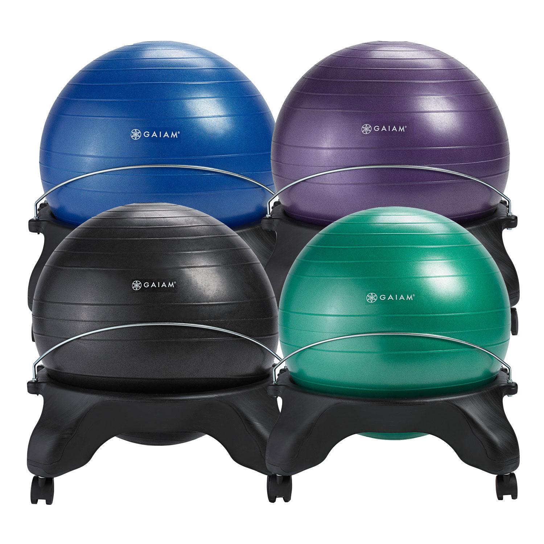 Balance Ball Blue: Amazon.com : Gaiam Backless Balance Ball Chair, Blue