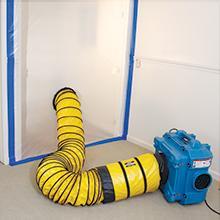 containment, dust control, drywall sanding, negative air filtration