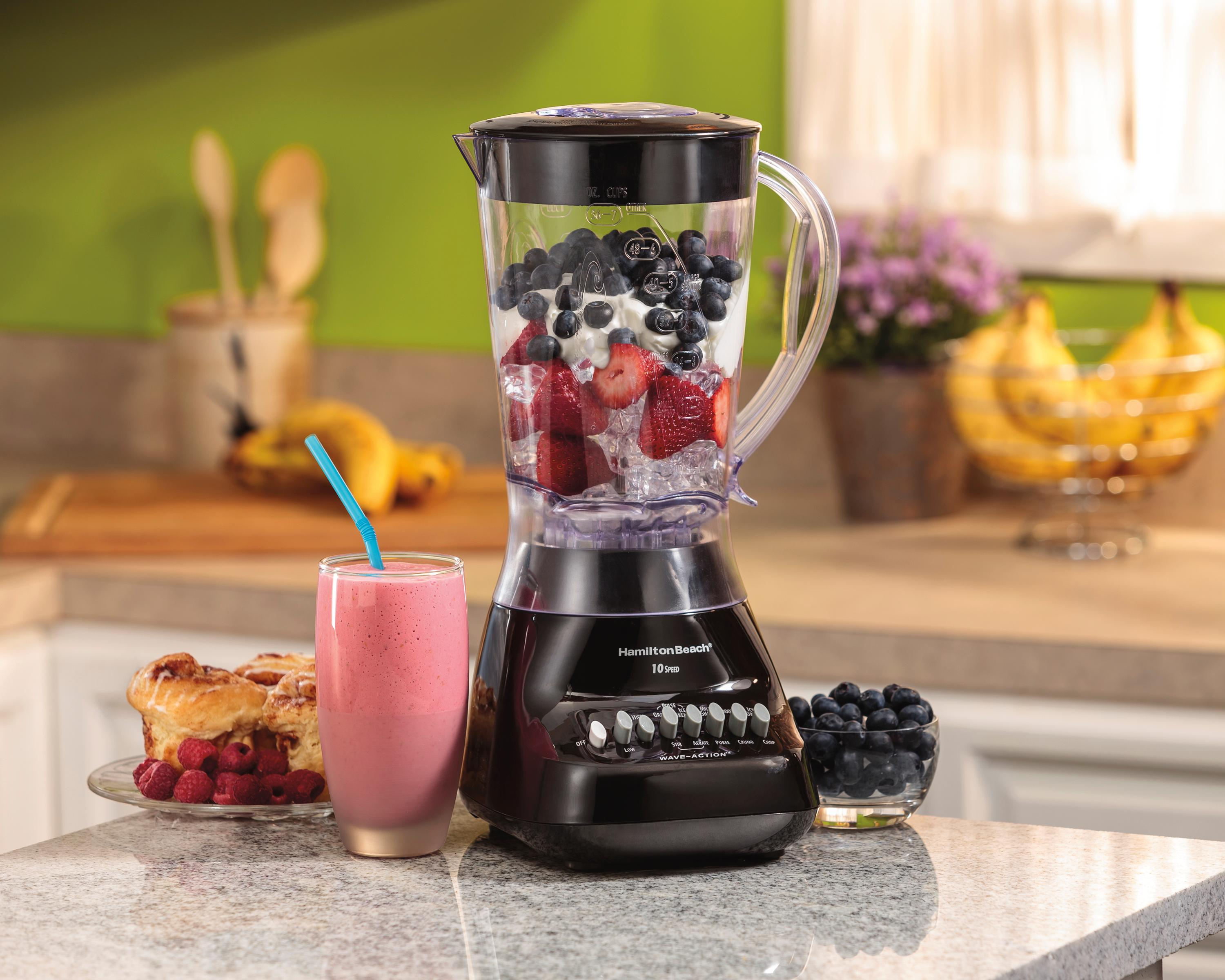 hamilton beach wave maker 10 speed 450 watt blender with 56 oz jar black 50163. Black Bedroom Furniture Sets. Home Design Ideas