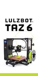 LulzBot TAZ, TAZ 6, LulzBot, 3D Printer