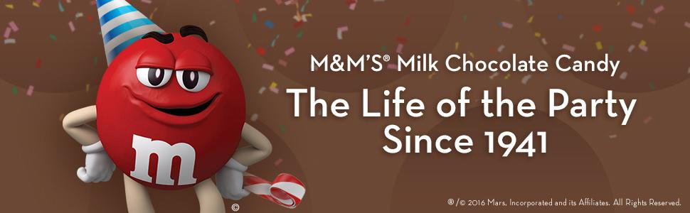 M&M'S Milk Chocolate Candy: The Life of the Party Since 1941