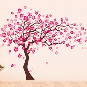cherry blossom wall decal  sc 1 st  Amazon.com & Amazon.com: Pop Decors Removable Vinyl Art Wall Decals Mural Cherry ...