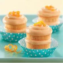 Orangesicle Creme Cupcakes