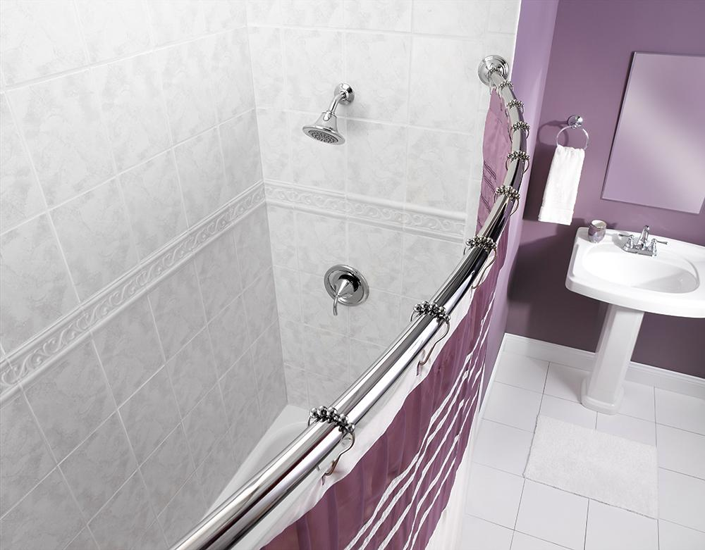 Amazon.com: Moen CSR2165OWB 5-Foot Fixed Length Curved Shower Rod ...