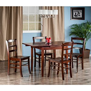 Pulman 3 Pc Set Extension Table W 2 Ladder Back Chairs