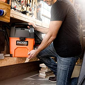 RIDGID VAC, SHOP VAC, SHOP VACUUM, WET DRY VAC, GARAGE VACUUM, CAR CLEANING, EASILY STORAGE
