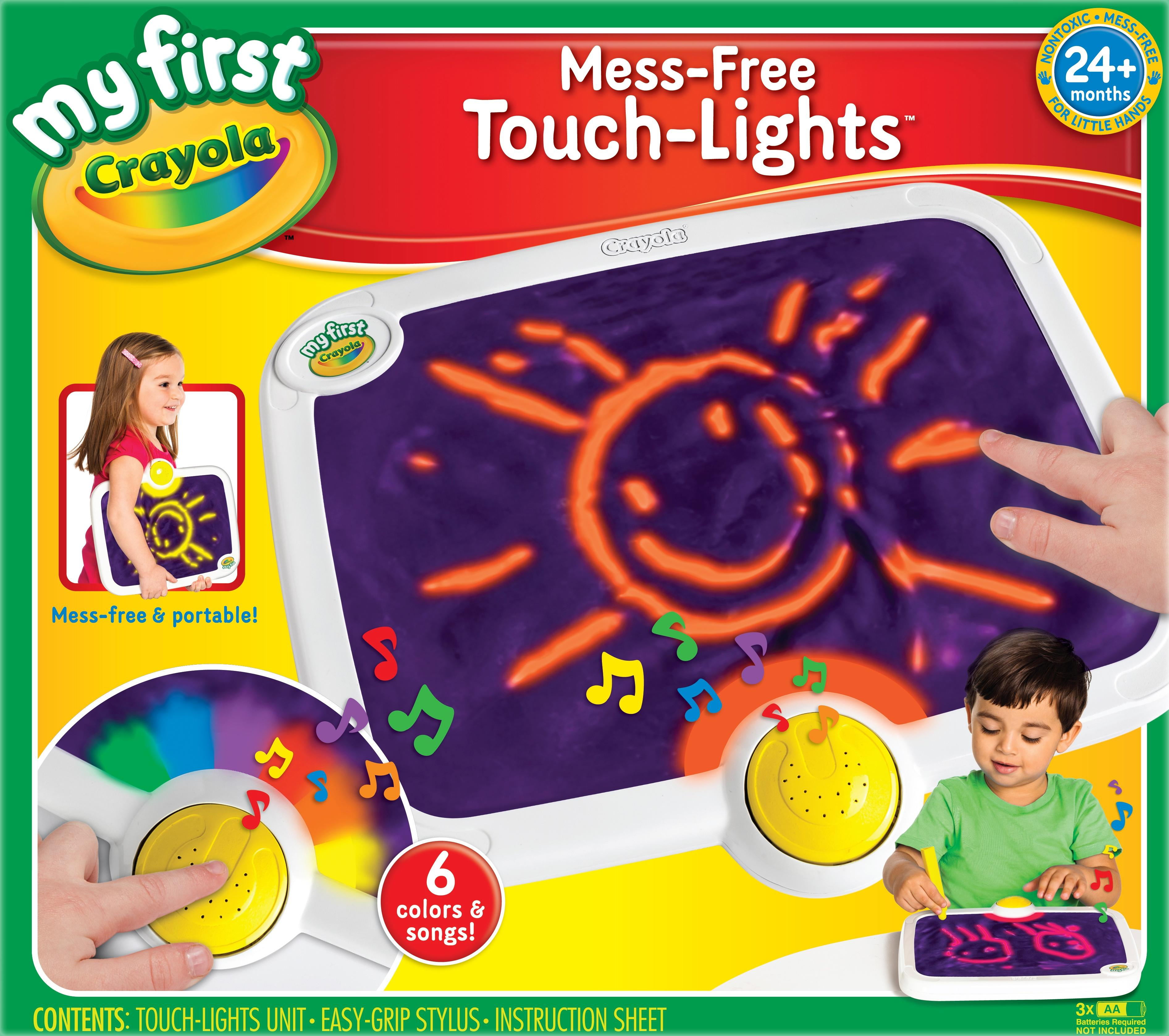 Amazon.com: Crayola My First Mess-Free Touch Lights, Ages 2 to 4 ...