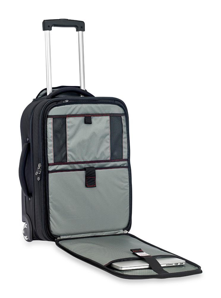 Amazon Com Sparrow Ii Wheeled Garment Bag Black Tsa Fastpass Laptop Storage System To