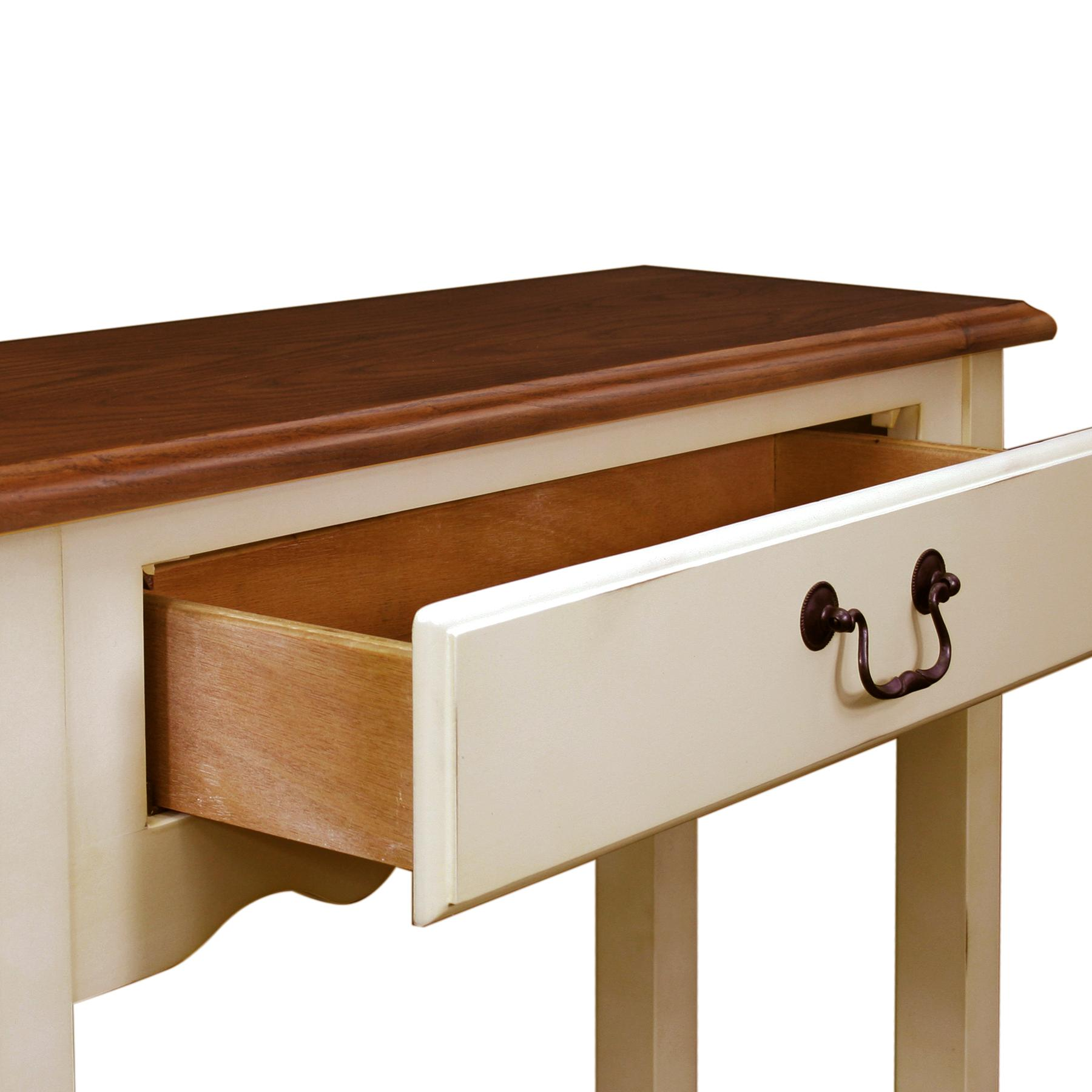 Amazon Com Leick French Hall Console Table Ivory Finish Kitchen Amp Dining
