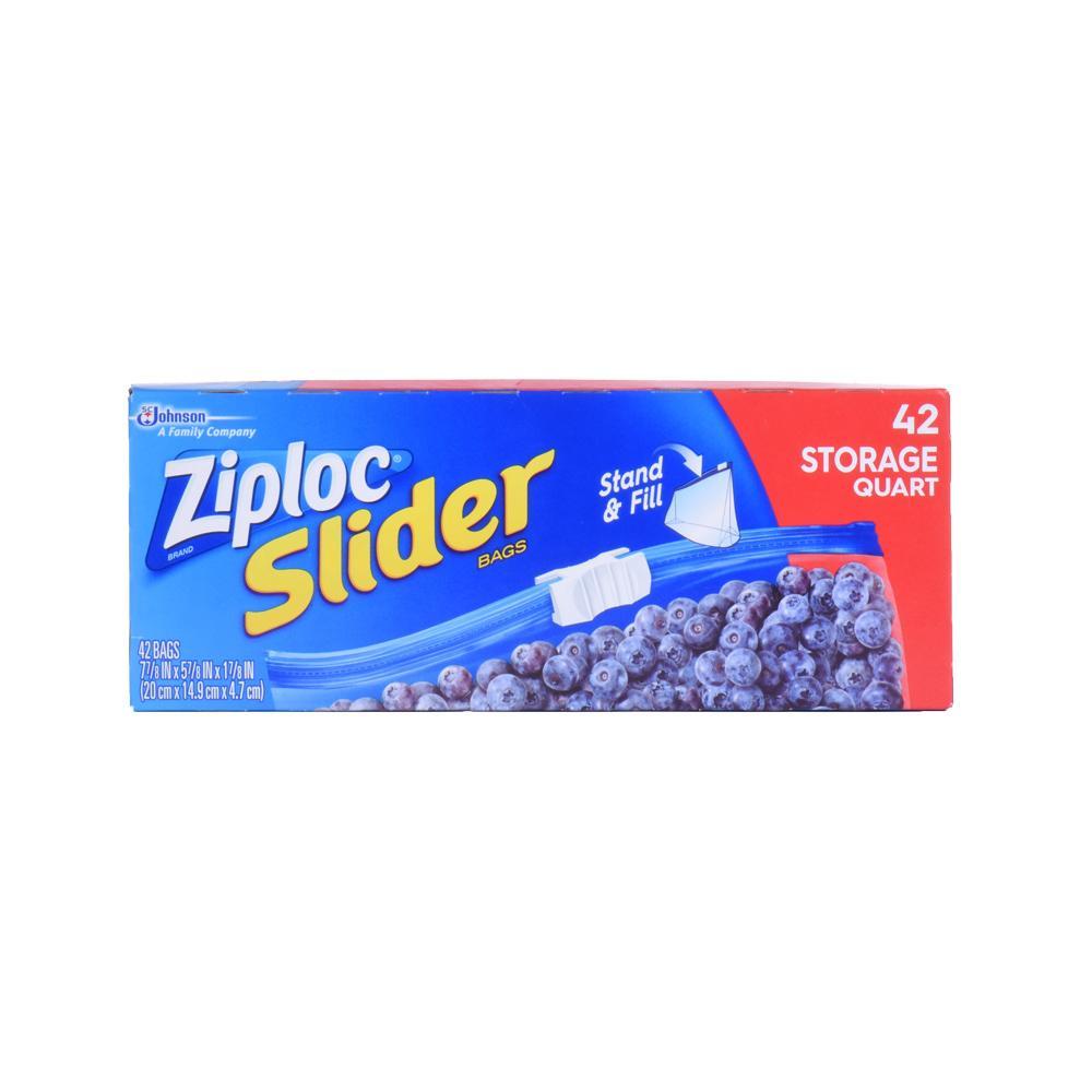 Amazon Com Ziploc Slider Storage Bag Quart Value Pack