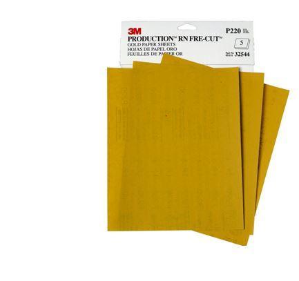 3M 02554 Production Gold 3-2//3 x 9 P150A Grit Resinite Sheet