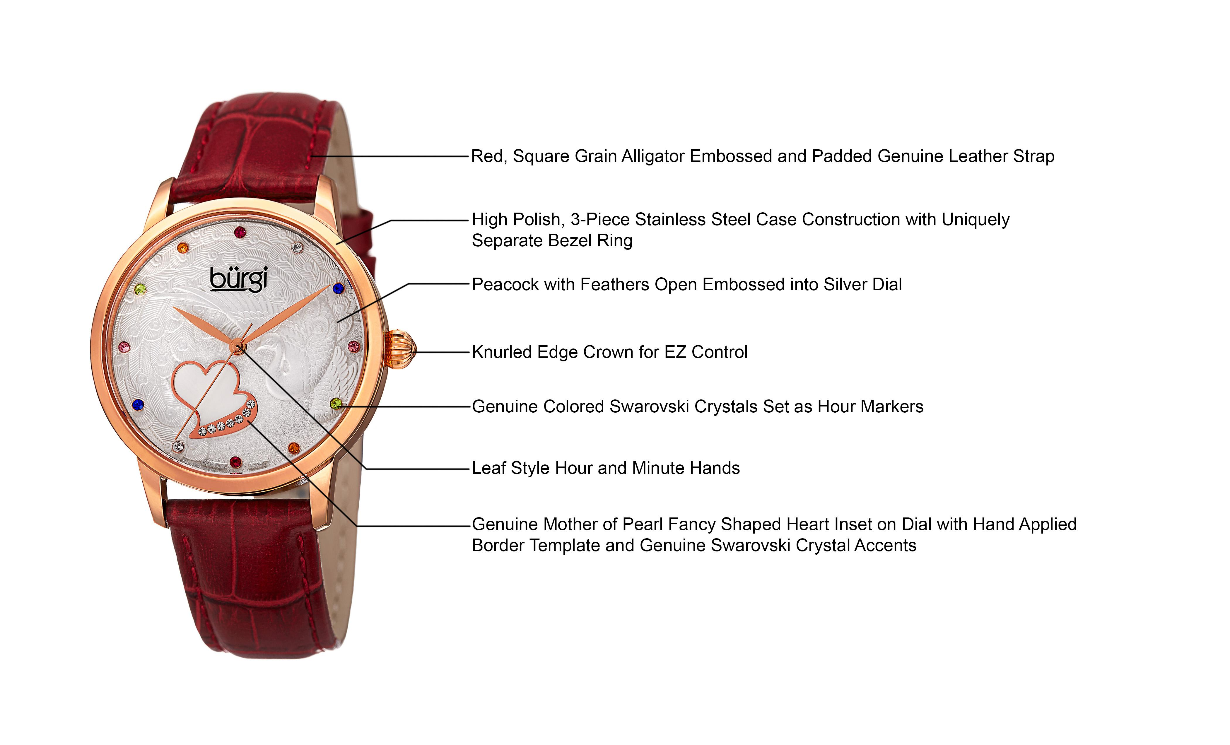 stainless patent signature on product watches steel stein leather accessories lyst philip ladies strap gallery small interchangeable red watch