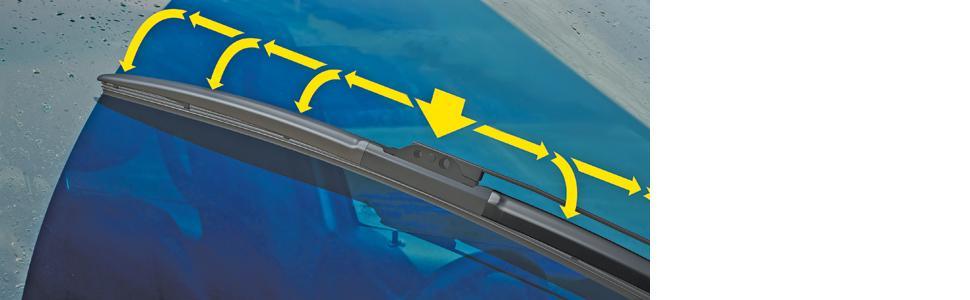 Michelin Stealth Hybrid Windshield Wiper Blade with Smart Flex Design