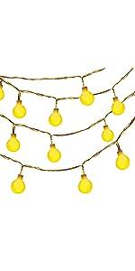 Oak Leaf Globe String Lights