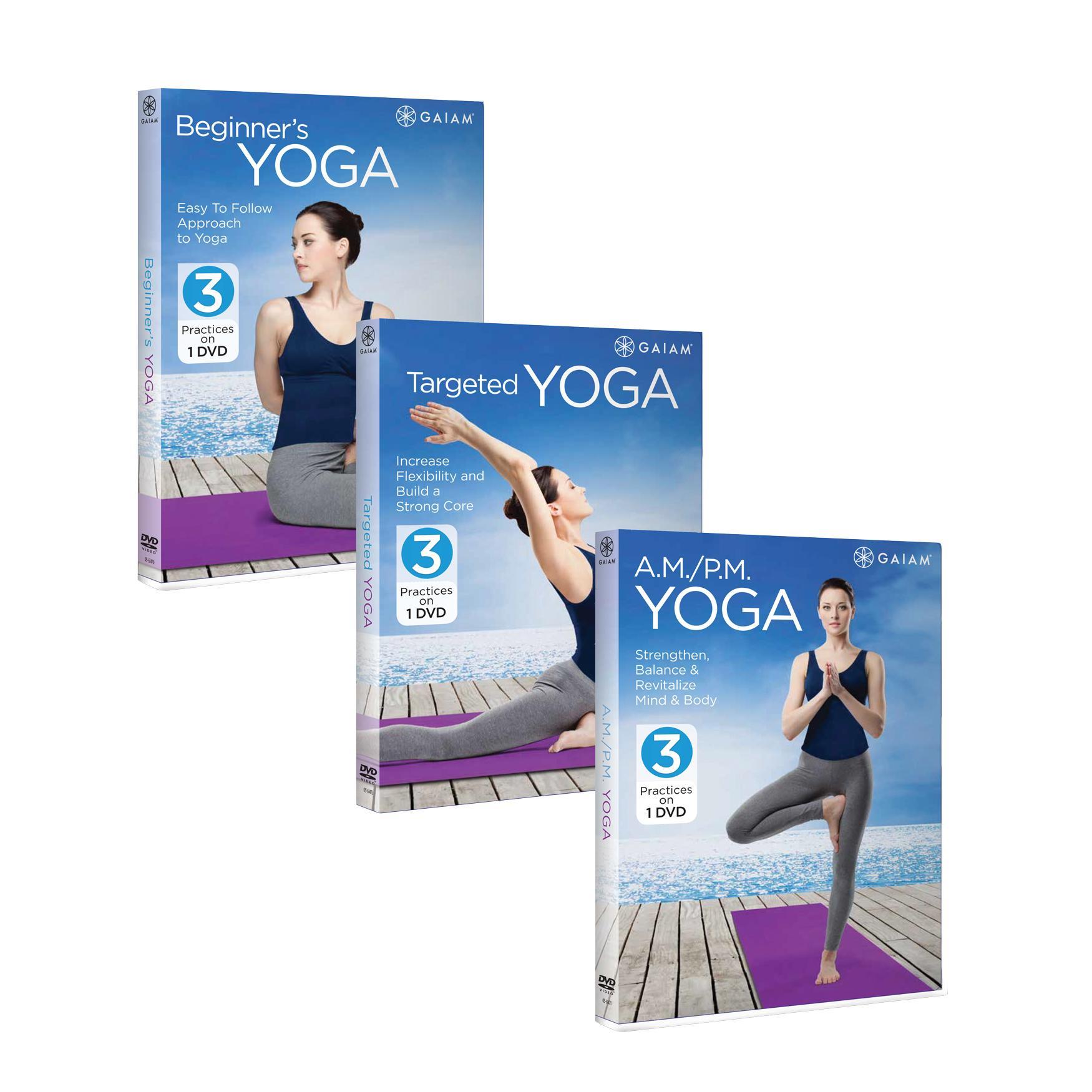 Amazon.com : Gaiam Yoga Beginner's DVD Kit : Sports & Outdoors