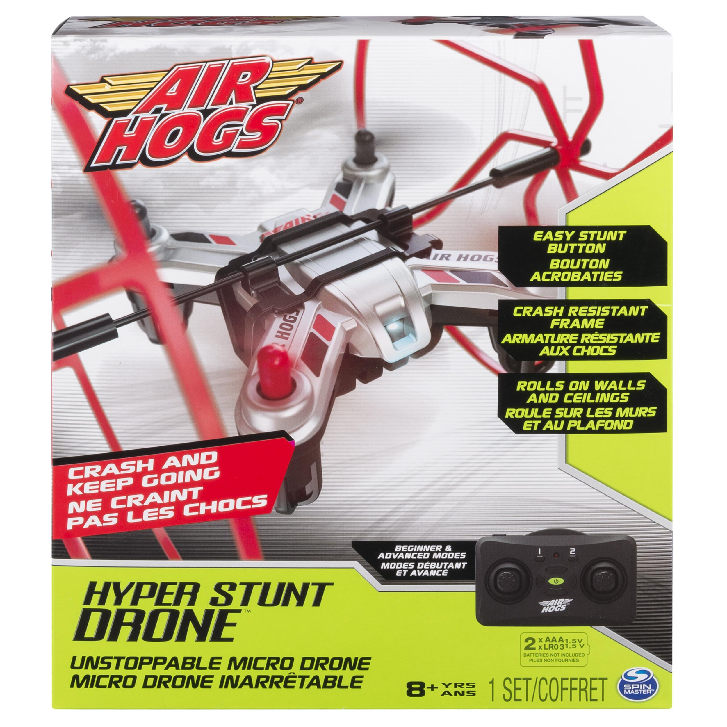 Amazon.com: Air Hogs - Hyper Stunt Drone - Unstoppable Micro RC Drone