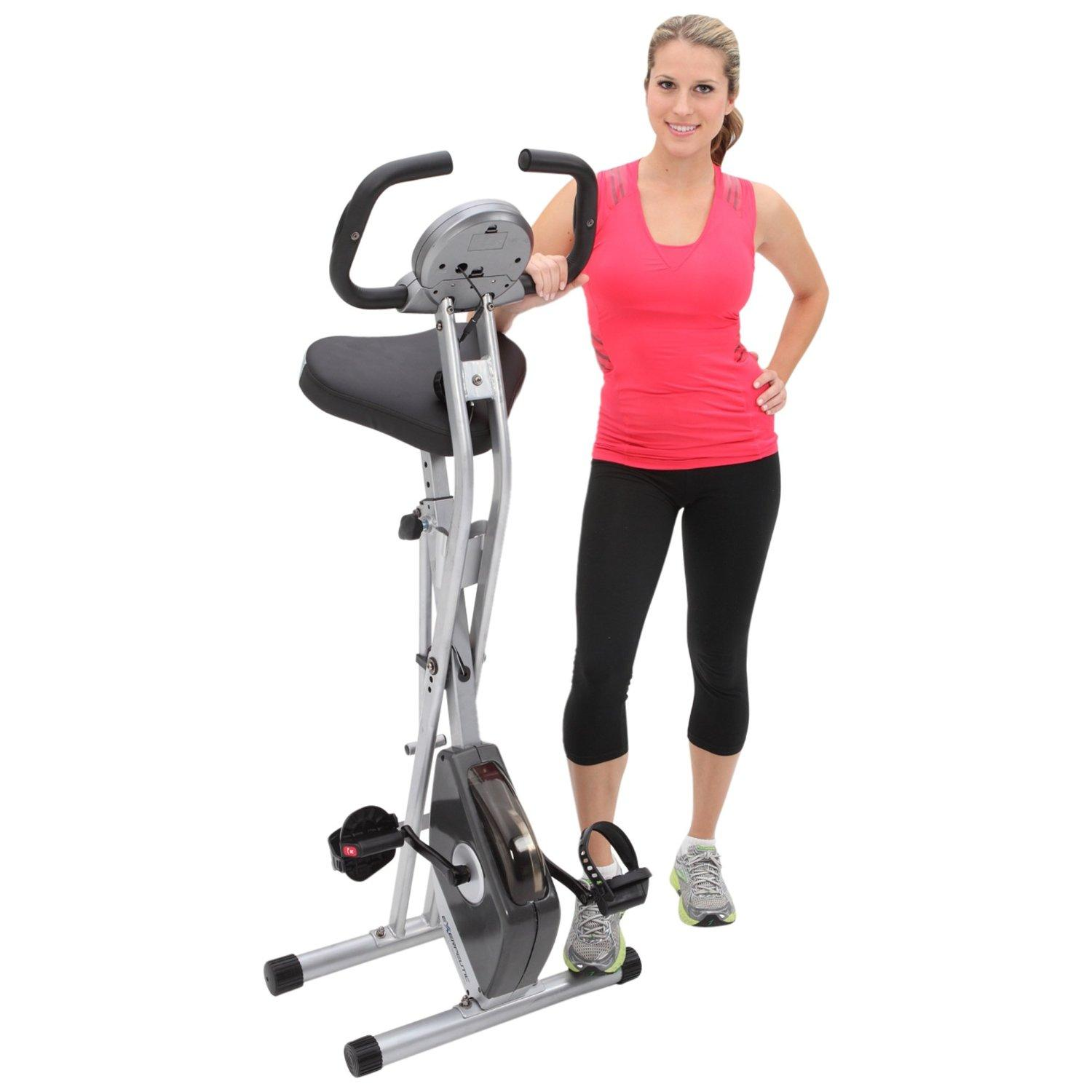 Amazon Com Exerpeutic Folding Magnetic Upright Bike With