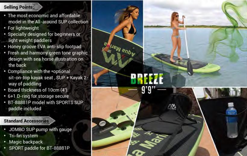 Amazon Com Aqua Marina Breeze Inflatable Stand Up Paddle
