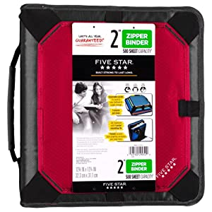 Amazon Com Five Star 2 Quot Zipper Binder Expansion Panel