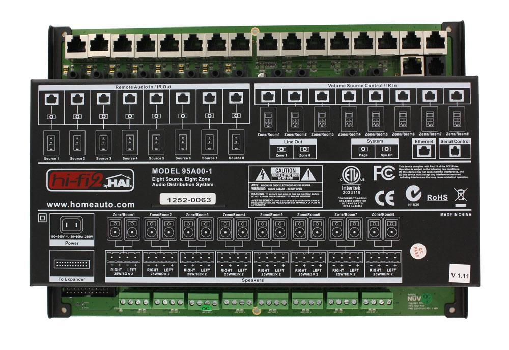 Amazon.com: Leviton 95A01-1 Hi-Fi 8-Zone, 8-Source, Main Assembly ...