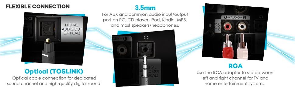 En son Bluetooth 4.1 teknolojisi, çift konektör, birçok kullanışlı özellikleri taşınabilir yüksek çözünürlüklü