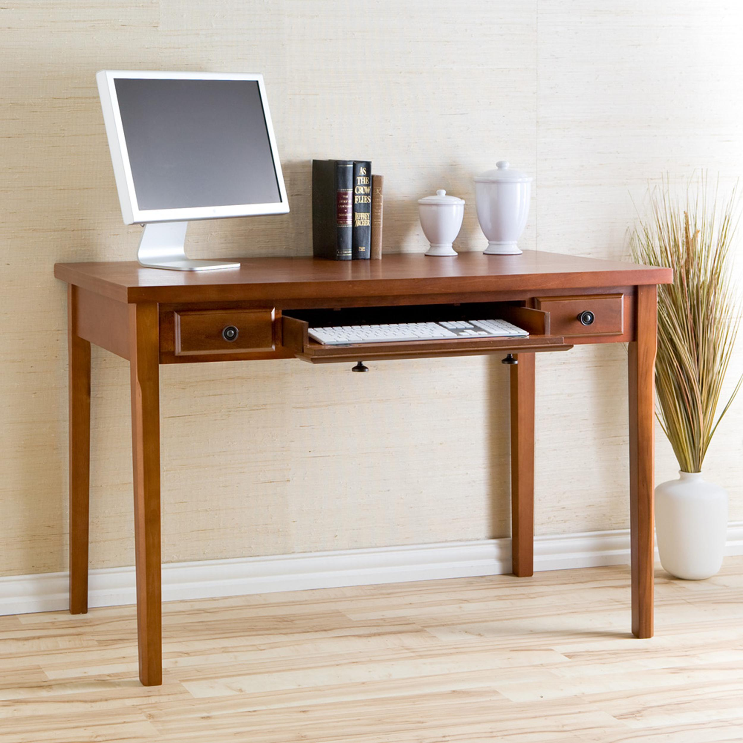 sei classic medium mahogany desk with 2. Black Bedroom Furniture Sets. Home Design Ideas
